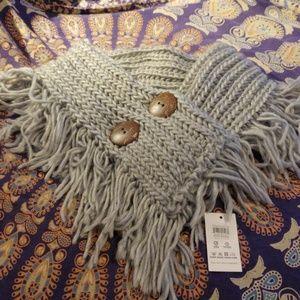 🌼Scarf - Grey Wool Knit NWT